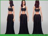 模拟人生4 女性黑色优雅长裙MOD