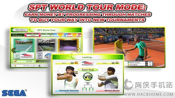 VR网球无限金钱全通关iOS破解存档(Virtua Tennis Challenge)图1: