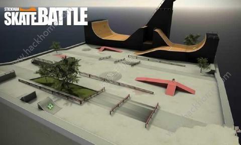 火柴人滑板之战无限金币中文破解版(Stickman Skate Battle)图1: